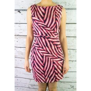 Diane Von Furstenberg Shina Fuchsia/Navy Dress